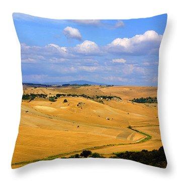 Campagna Di Tarquinia Throw Pillow