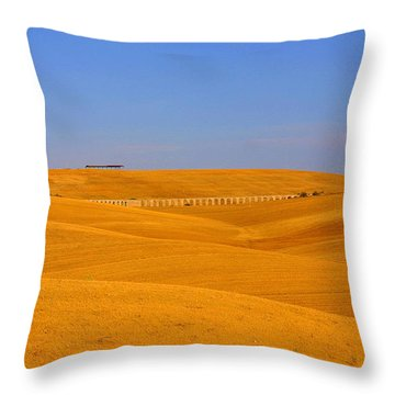 Tarquinia Landscape Campaign With Aqueduct And Houses Throw Pillow