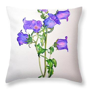 Campanula Throw Pillow by Dion Dior
