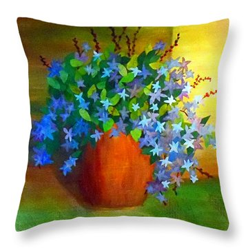 Campanula In Terra Cotta Throw Pillow