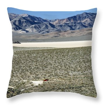 Throw Pillow featuring the photograph Camped At The End Of The Road by Joe Schofield