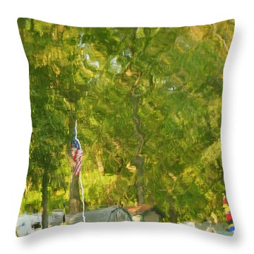 Campground Abstract Throw Pillow by Frozen in Time Fine Art Photography