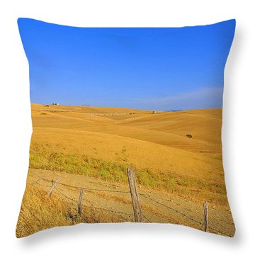 Wheat Fields Throw Pillow