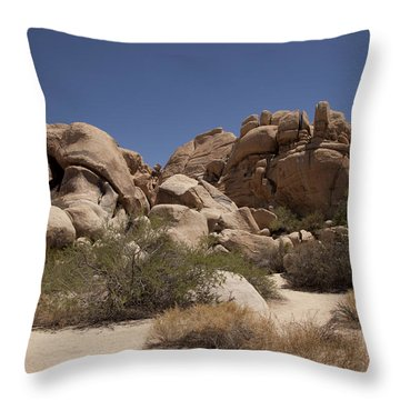 Camping Throw Pillow by Amanda Barcon