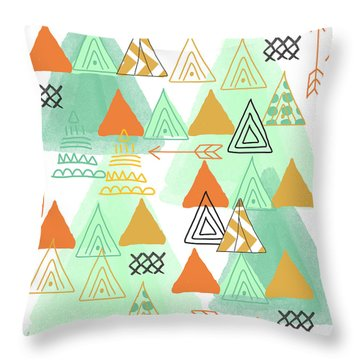 Camping Throw Pillow