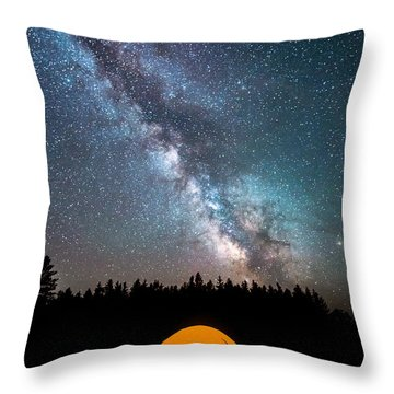 Throw Pillow featuring the photograph Camping Under The Stars by Michael Ver Sprill