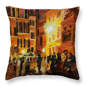 Campo Di Fiori- Italy Throw Pillow