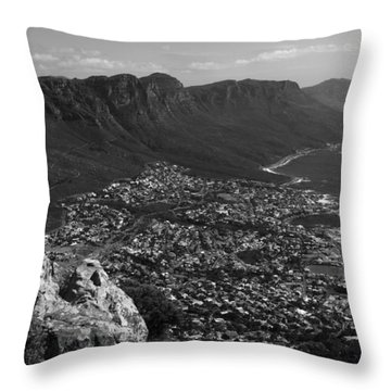 Camps Bay View Cape Town Throw Pillow