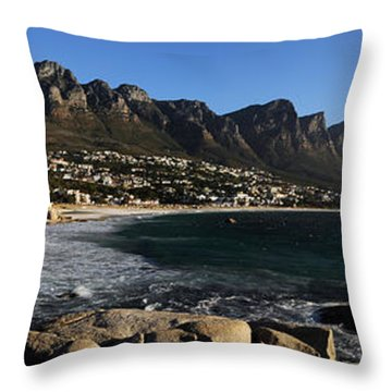 Camps Bay With The Twelve Apostles Throw Pillow