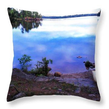 Campsite Serenity Throw Pillow by Thomas R Fletcher