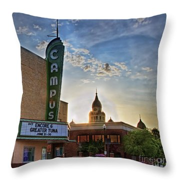 Campus At Sunrise Throw Pillow by Gary Holmes