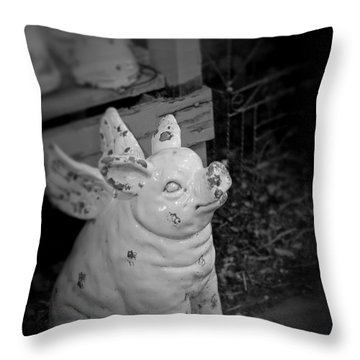 Can A Pig Fly? Throw Pillow