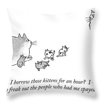 Can I Borrow Those Kittens For An Hour?  I Want Throw Pillow