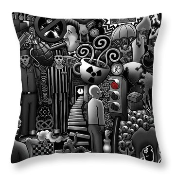 Can 'o' Worms Throw Pillow