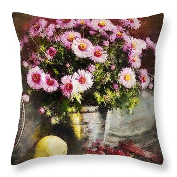 Can Of Raspberries Throw Pillow by Mo T