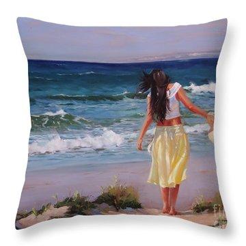 Can You Imagine Throw Pillow by Laura Lee Zanghetti