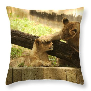 Can You See Me Now Throw Pillow by Olivia Hardwicke