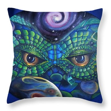 Can You See Me Now Throw Pillow by Sherry Strong
