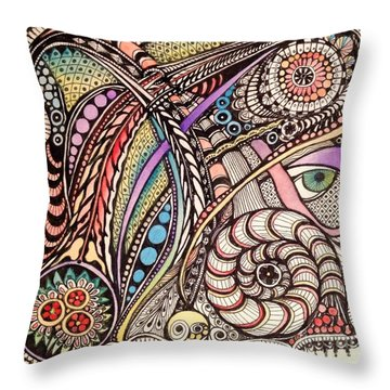 Can You See What I See Throw Pillow by Iya Carson