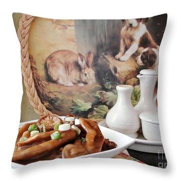 Throw Pillow featuring the photograph Can You Smell by Katy Mei