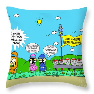Can You Smell Me Now Throw Pillow