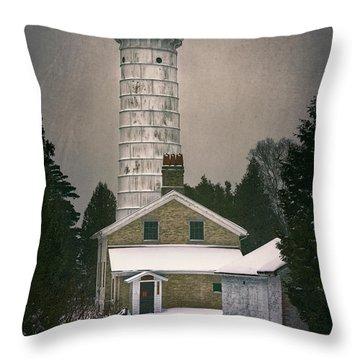 Cana Island Light II Throw Pillow by Joan Carroll