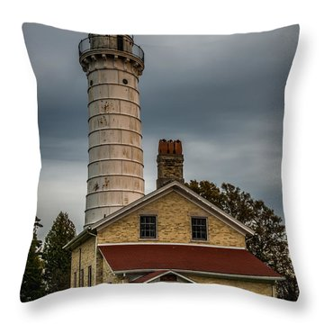 Cana Island Lighthouse By Paul Freidlund Throw Pillow by Paul Freidlund