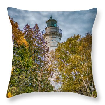Cana Island Lighthouse II By Paul Freidlund Throw Pillow by Paul Freidlund
