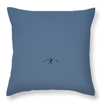 Throw Pillow featuring the photograph Canada Cleared For Landing by Mark McReynolds