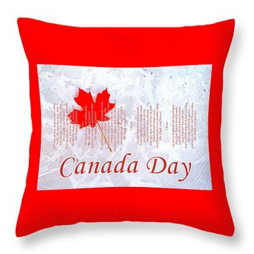 Canada Day .. The Maple Leaf Forever Throw Pillow by The Creative Minds Art and Photography
