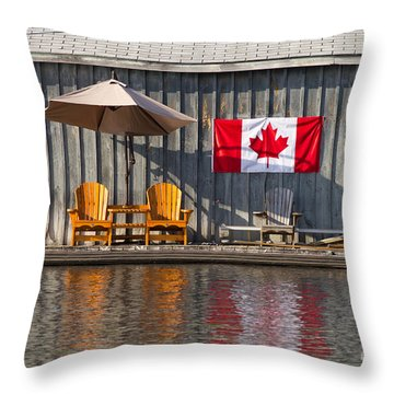 Canada Day In Muskoka Throw Pillow