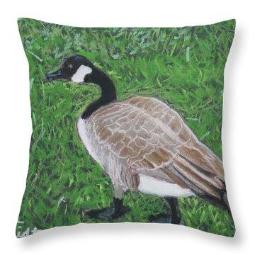 Canada Goose In Golden Gate Arboretum Throw Pillow