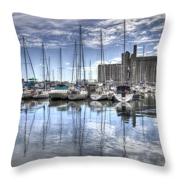 Throw Pillow featuring the photograph Canada Malting Co Limited by Ross G Strachan