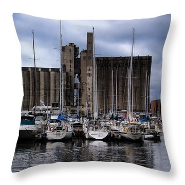 Canada Malting Silos Harbourfront Throw Pillow