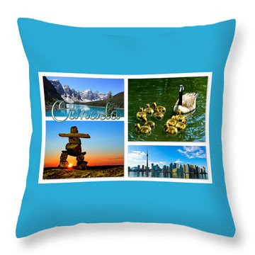 Canada Throw Pillow by The Creative Minds Art and Photography