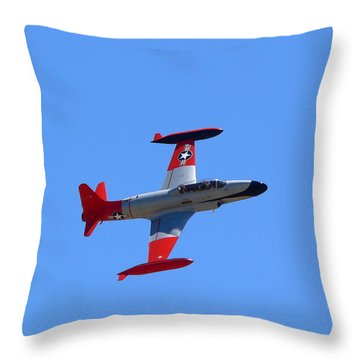 Throw Pillow featuring the photograph Canadair Shooting Star Ct133 by Jeff Lowe