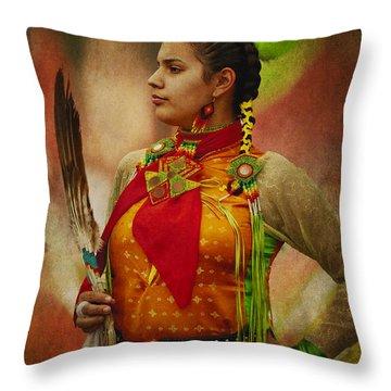 Canadian Aboriginal Woman Throw Pillow