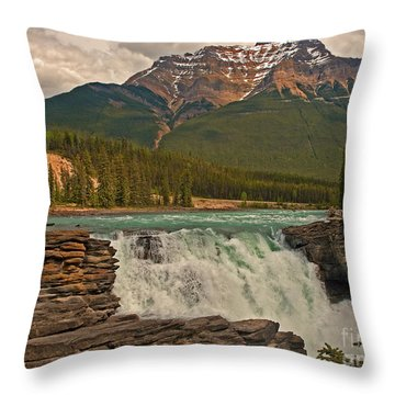 Canadian Falls Throw Pillow