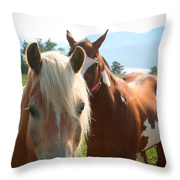 Canadian Horses Throw Pillow