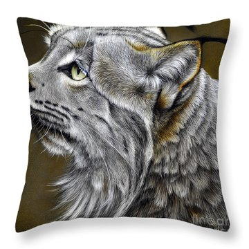 Canadian Lynx Throw Pillow by Jurek Zamoyski