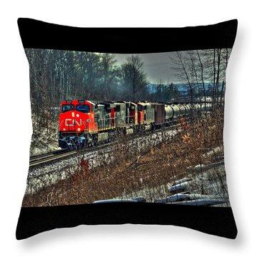 Canadian National Railway Throw Pillow