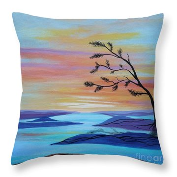 Canadian North Tree Throw Pillow