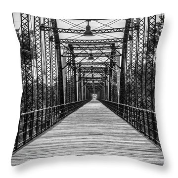 Canadian River Bridge Throw Pillow