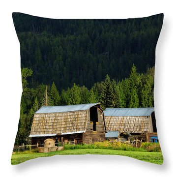 Canadian Twins Throw Pillow by Kathleen Bishop