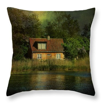 Canal Cottage Throw Pillow