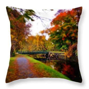 Canal Dream Throw Pillow by Rodney Lee Williams