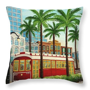 Canal Street Car Line I I Throw Pillow