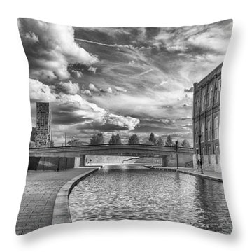 Canal Walk Throw Pillow by Howard Salmon