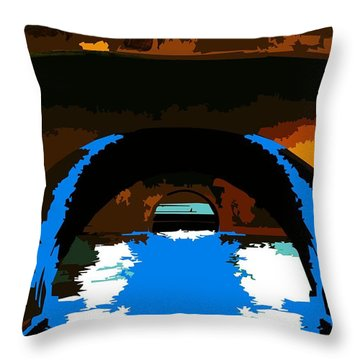 Canal Zone  Throw Pillow by P Dwain Morris