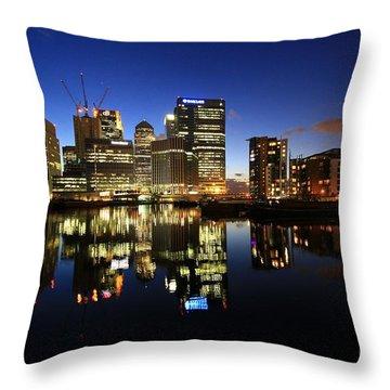 Canary Wharf 8 Throw Pillow by Mariusz Czajkowski